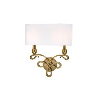 Hudson Valley Pawling 2 Light Brass Wall Sconce