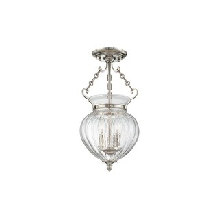 Hudson Valley Gardner 3 Light 16-inch Semi Flush