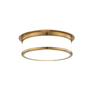 Hudson Valley Geneva 3 Light Brass Flush Mount