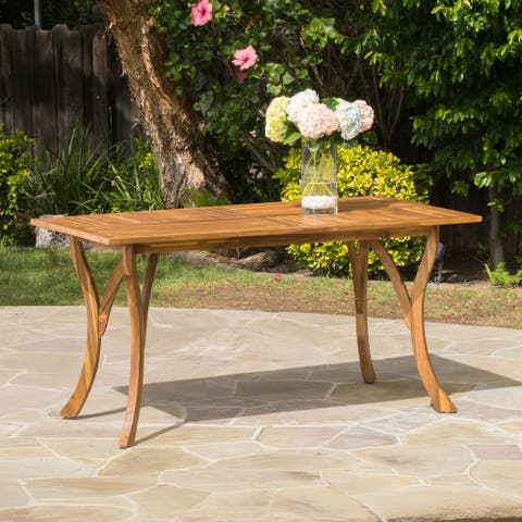 Hermosa Outdoor Acacia Wood Rectangle Dining Table (ONLY) by Christopher Knight Home