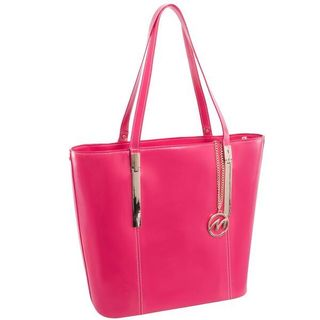 McKlein USA Fuchsia Christina Top Grain Leather Tablet Tote Bag