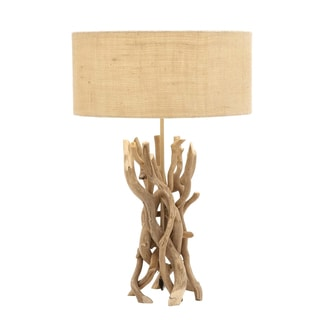 The Cool Natural Driftwood Metal Table Lamp