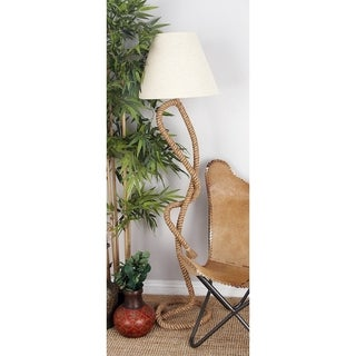Coastal 63 Inch Jute Rope and Iron Floor Lamp by Studio 250