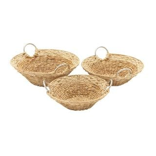 Assorted Sea Grass Baskets (Set Of 3)