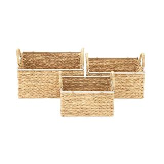 The Curated Nomad Biltmore 3-piece Organic Seagrass Basket Set