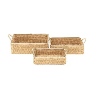 Multicolor Seagrass Basket (Set Of 3)