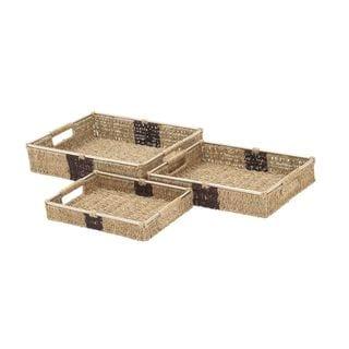 Stackable Sea Grass Baskets (Set of 3)