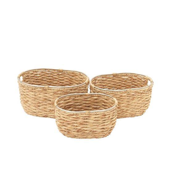 Tan Sea Grass Baskets (Set of 3)