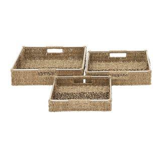 Trendy Set of 3 Sea Grass Baskets