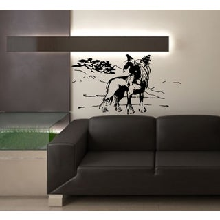 Chinese crested dog pet Wall Art Sticker Decal