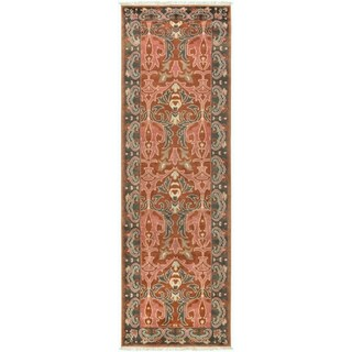 Hand-Knotted Padstow Border Indoor Wool Rug (2'6 x 8')