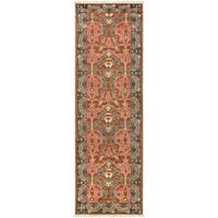 Hand-Knotted Padstow Border Indoor Wool Area Rug (2'6 x 8')