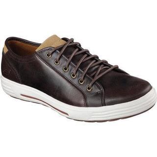 Men's Skechers Relaxed Fit Porter Ressen Sneaker Dark Brown