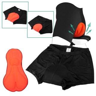 Zodaca Men Black/ Orange 3D Silicone Gel Padded Bike Bicycle Exercise Outdoor Cycling Shorts Pants