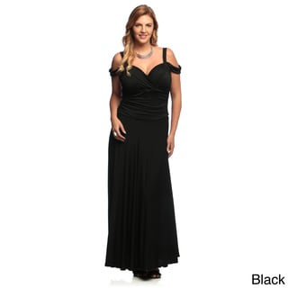 Evanese Women's Plus Size Elegant Long Dress Size 2X in Navy(As Is Item)