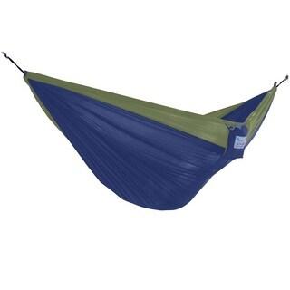 Parachute Navy/Olive Nylon Lightweight Portable Single Hammock