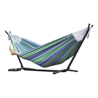 oasis 9 foot  bo double hammock with stand cotton hammocks  u0026 porch swings for less   overstock    rh   overstock