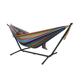Combo Double Tropical 9' Hammock With Stand