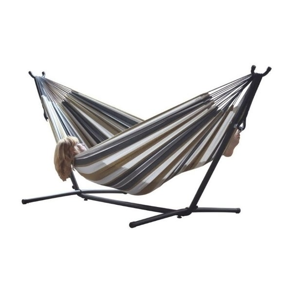 bo double desert moon 9 foot hammock with stand  bo double desert moon 9 foot hammock with stand   free shipping      rh   overstock