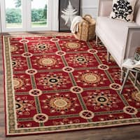 Safavieh Hand-hooked Easy to Care Red/ Natural Rug - 8' x 10'