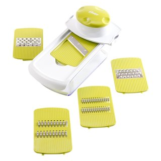 Oster Kitchen Artistry Green Plastic And Steel Dishwasher-safe Slicing And Grating Station
