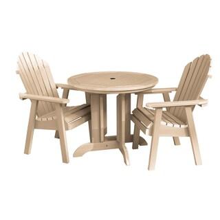 Highwood Eco-friendly Synthetic Wood Hamilton 3-piece Round Dining Set (Option: Tuscan Taupe)