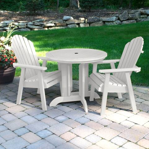Highwood Eco-friendly Synthetic Wood Hamilton 3-piece Round Dining Set