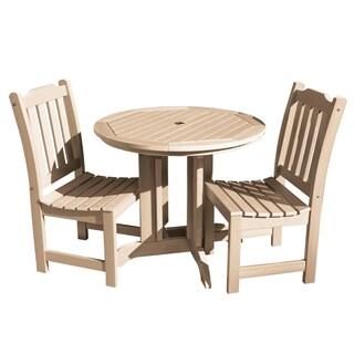 Highwood Eco-friendly Lehigh 3-piece Round Dining Set (Option: Tuscan Taupe)