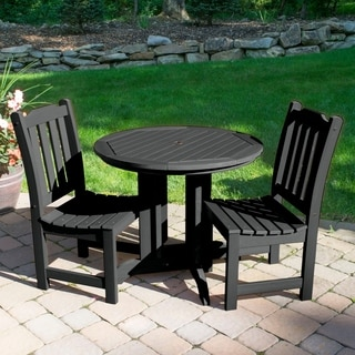 Highwood Eco-friendly Synthetic Wood Lehigh 3-piece Round Dining Set