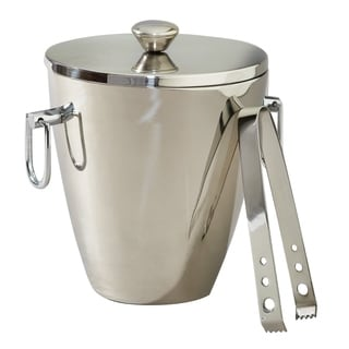 Heim Concept Victoria Stainless Steel Ice Bucket with Tongs