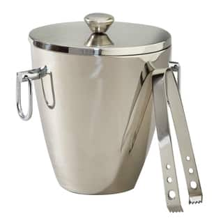 Elegance Victoria Stainless Steel Ice Bucket with Tongs|https://ak1.ostkcdn.com/images/products/11882084/P18778552.jpg?impolicy=medium