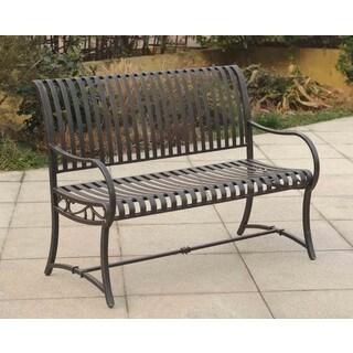 sunjoy stratford steel garden bench