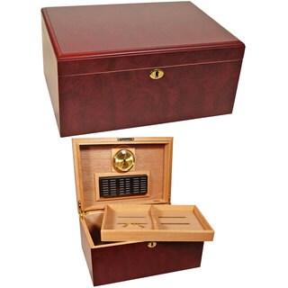 Cuban Crafters Humidors Clasico Rosa Brown Wood 100-cigar Desktop Humidor