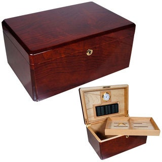 Cuban Crafters Designer Colores Madera Wood Bubinga 100-cigar Humidor