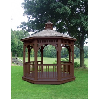 Highwood Eco-friendly Synthetic Wood Luxury Octagonal Gazebo