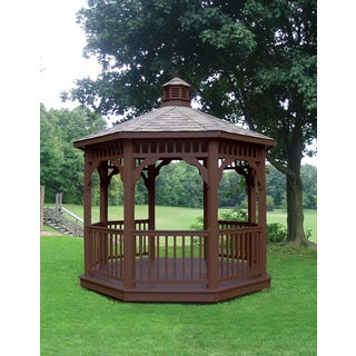 Synthetic Brown Luxury Octagonal Gazebo