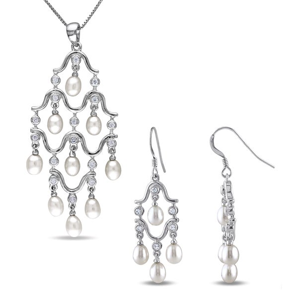 2 5 Mm Earrings: Shop Miadora Sterling Silver Cultured Freshwater Pearl And