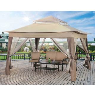 Sunjoy 10-foot Square Patio Portable Gazebo