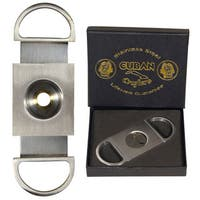 Cuban Crafters Silver Stainless-steel Perfect Cigar Cutter