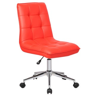 Porthos Home Leona Adjustable Office Chair (Option: Red)