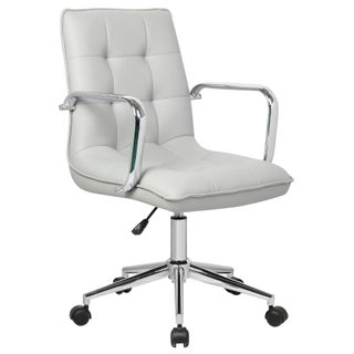 Porthos Home Lucia Adjustable Office Chair (Option: Grey)