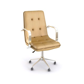 Porthos Home Lucia Adjustable Office Chair (Option: Brown)