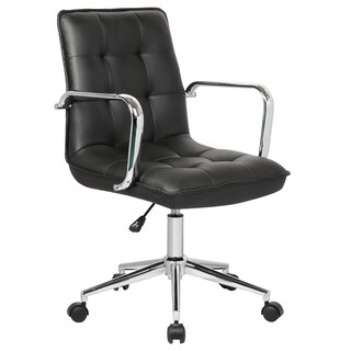 Porch & Den Bayview Colony Adjustable Office Chair (Option: Black)
