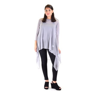Women's Polyester Mesh Long Sleeve Tunic