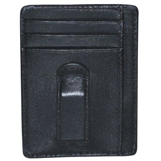 Dopp Regiment Black Leather Front Pocket Money Clip