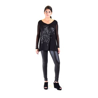 Women's Knitted Tunic With Printed Foil