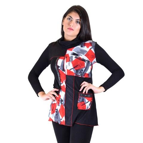 Premise Women's Printed Knit Cowl-neck Tunic