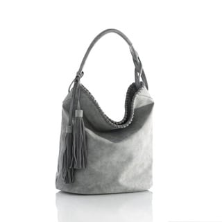 Shiraleah 1 Count Reagan Grey Hobo Handbag