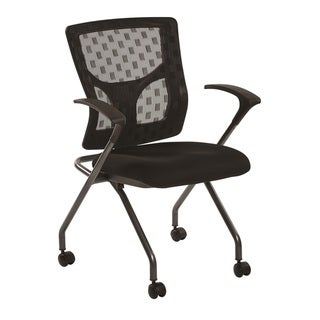 Link to Checkered Mesh Back Folding Chair with Black Frame Similar Items in Office & Conference Room Chairs