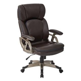 Chestnut Bonded Leather With Cocoa Nylon Base Executive Chair|https://ak1.ostkcdn.com/images/products/11882299/P18779119.jpg?impolicy=medium